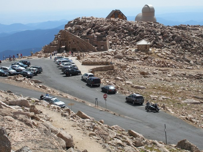 Parking area at peak of Mount Evans