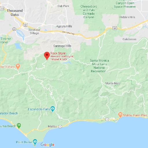 Map of greater Malibu area in California.