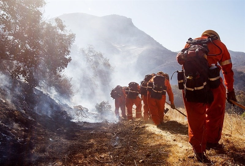 Fire fighters in California