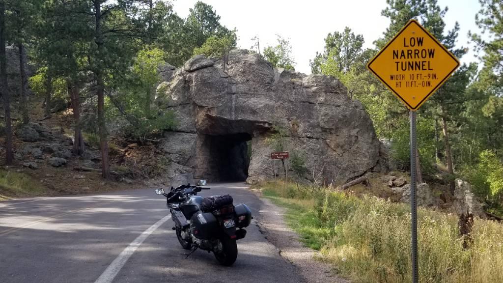 Iron Mountain Road one-lane tunnel