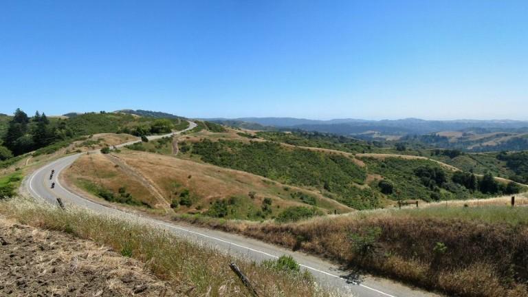 Curvy skyline boulevard traces a path along the crest of the Santa Cruz Mountains